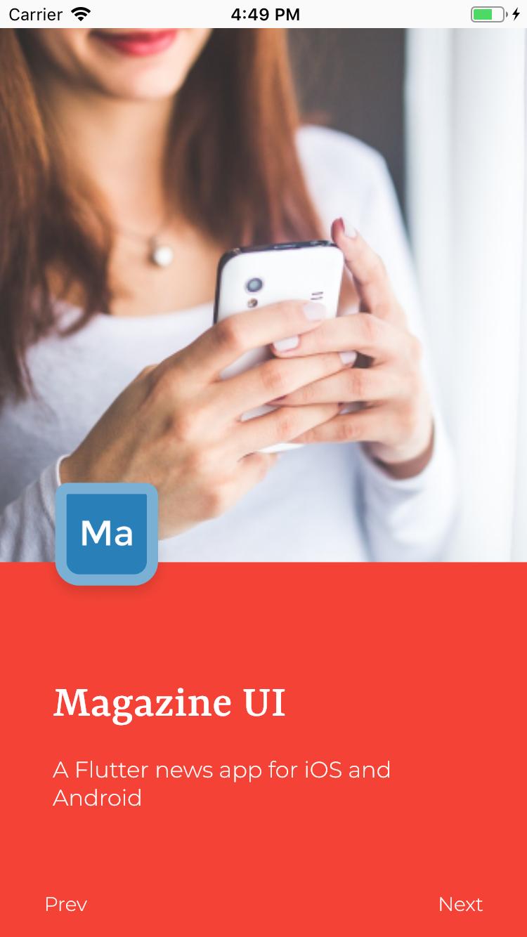 Flutter Magazine App Theme