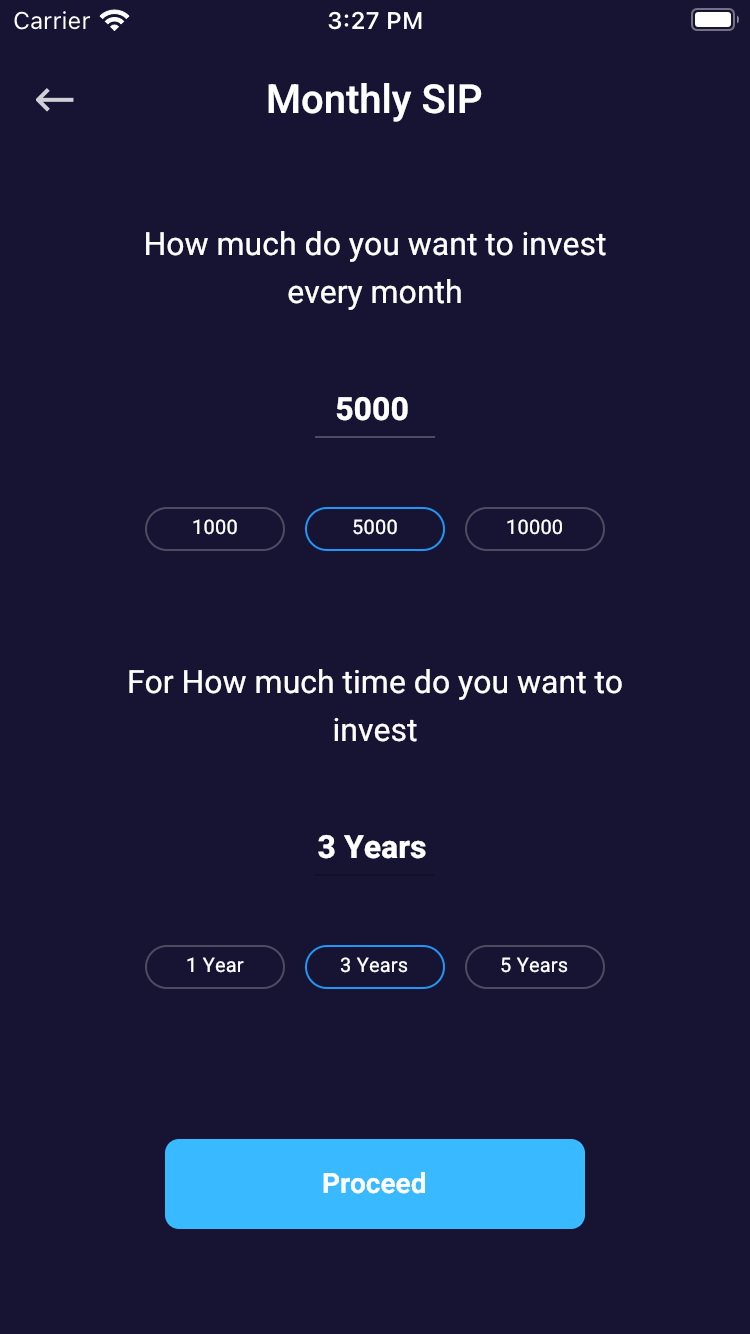 Flutter Mutual Fund App