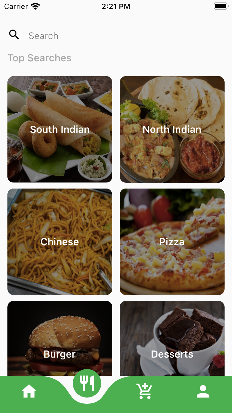 Flutter Food Ordering App Theme
